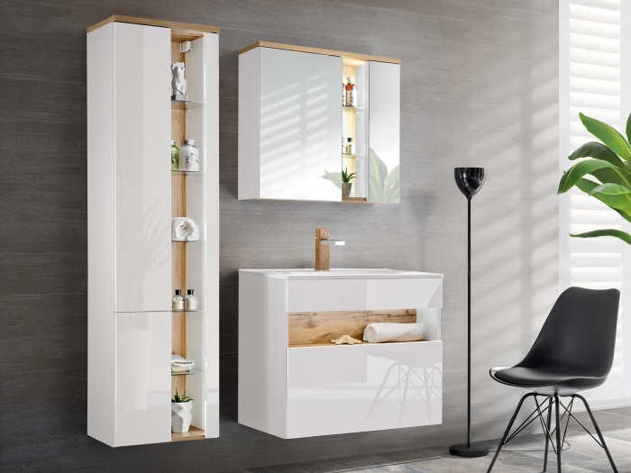 Badezimmer Bahama in Weiß und Oak Votan von Comad zum Toppreis!